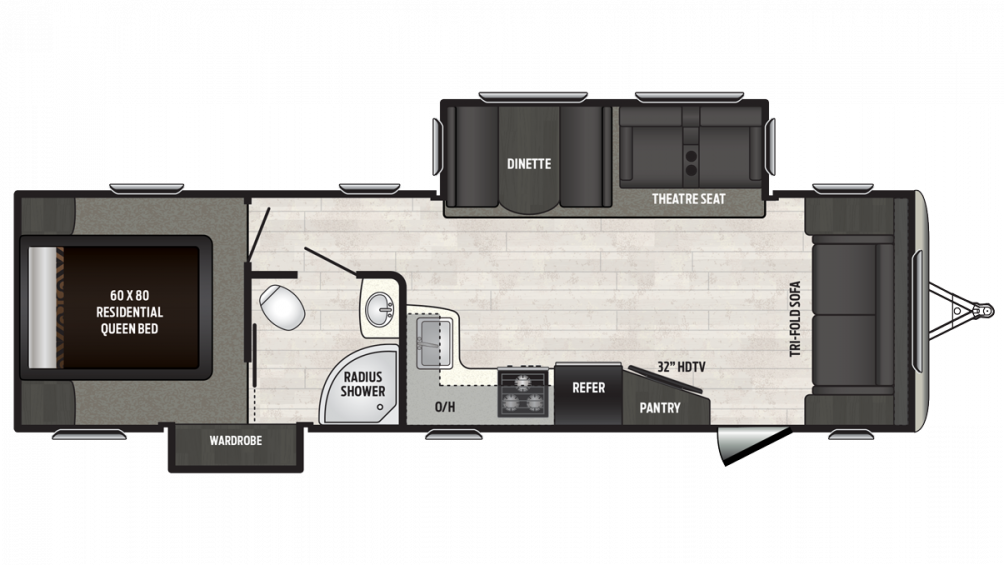 2018 Sprinter Campfire Edition 30FL Floor Plan