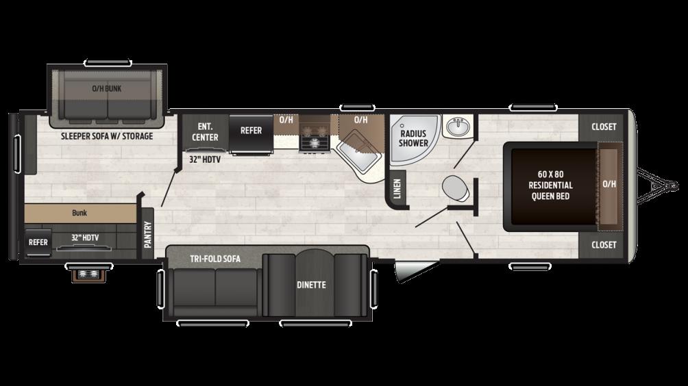 2018 Sprinter Campfire Edition 33BH Floor Plan