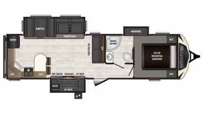 2018 Sprinter Limited 312MLS Floor Plan