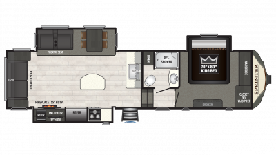 2018 Sprinter Limited 3150FWRLS Floor Plan