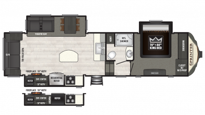2018 Sprinter Limited 3151FWRLS Floor Plan