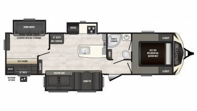 2018 Sprinter Limited 325BMK Floor Plan