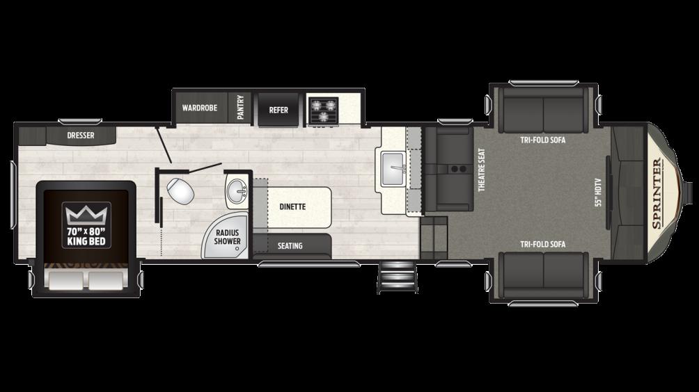 2018 Sprinter Limited 3340FWFLS Floor Plan