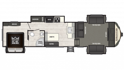 2018 Sprinter Limited 3340FWFLS Floor Plan