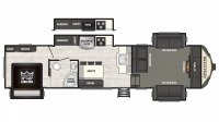 2018 Sprinter Limited 3341FWFLS Floor Plan