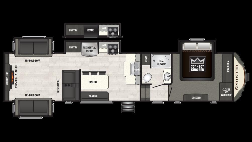 2018 Sprinter Limited 3531FWDEN Floor Plan