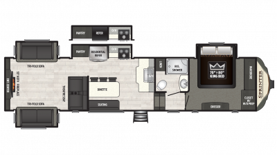 2018 Sprinter Limited 3531FWDEN Floor Plan