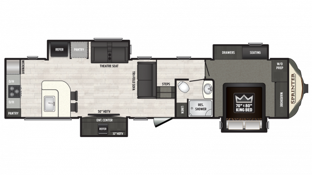 2018 Sprinter Limited 3550FWMLS Floor Plan