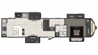 2019 Sprinter Limited 3550FWMLS Floor Plan