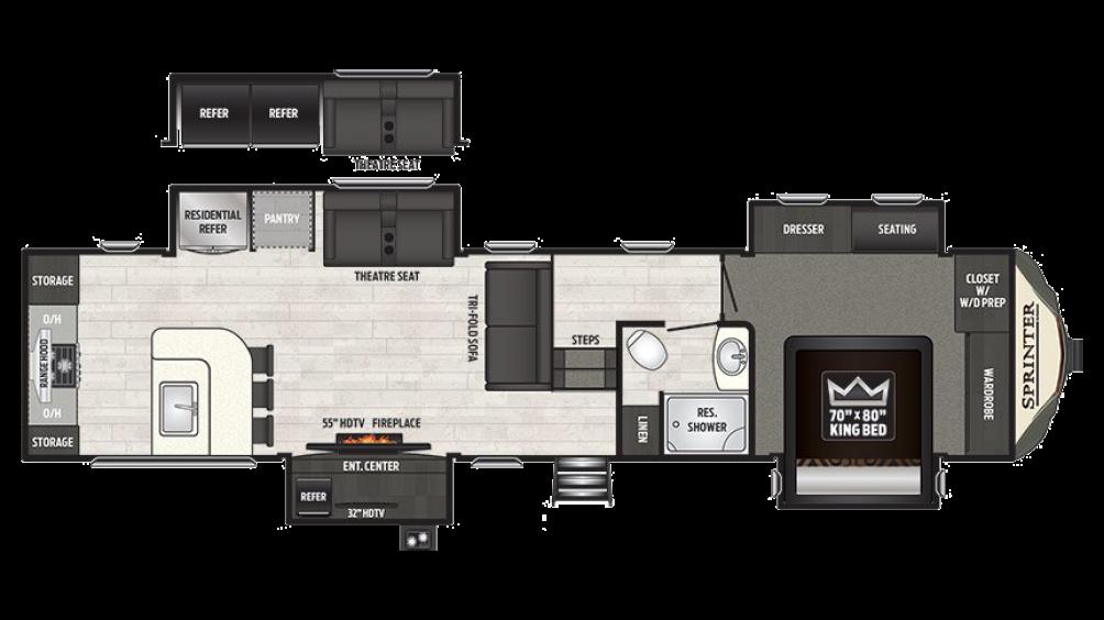 2018 Sprinter Limited 3551FWMLS Floor Plan