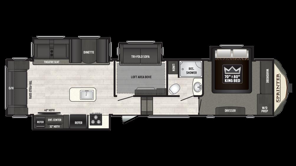 2018 Sprinter Limited 3570FWLFT Floor Plan