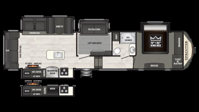 2018 Sprinter Limited 3571FWLFT Floor Plan
