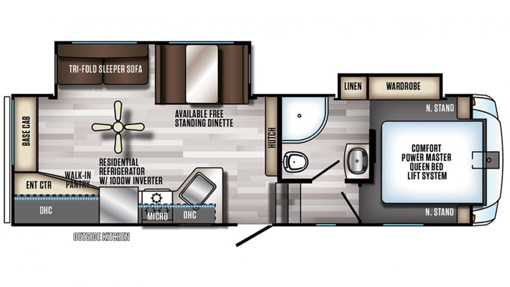 2019 Arctic Wolf 255DRL4 Floor Plan Img
