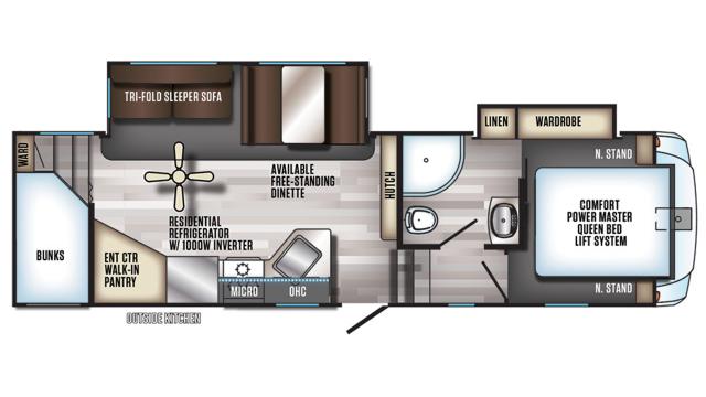 2019 Arctic Wolf 265DBH8 Floor Plan