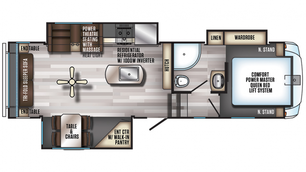 2019 Arctic Wolf 285DRL4 Floor Plan Img