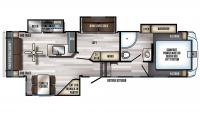2019 Arctic Wolf 295QSL8 Floor Plan