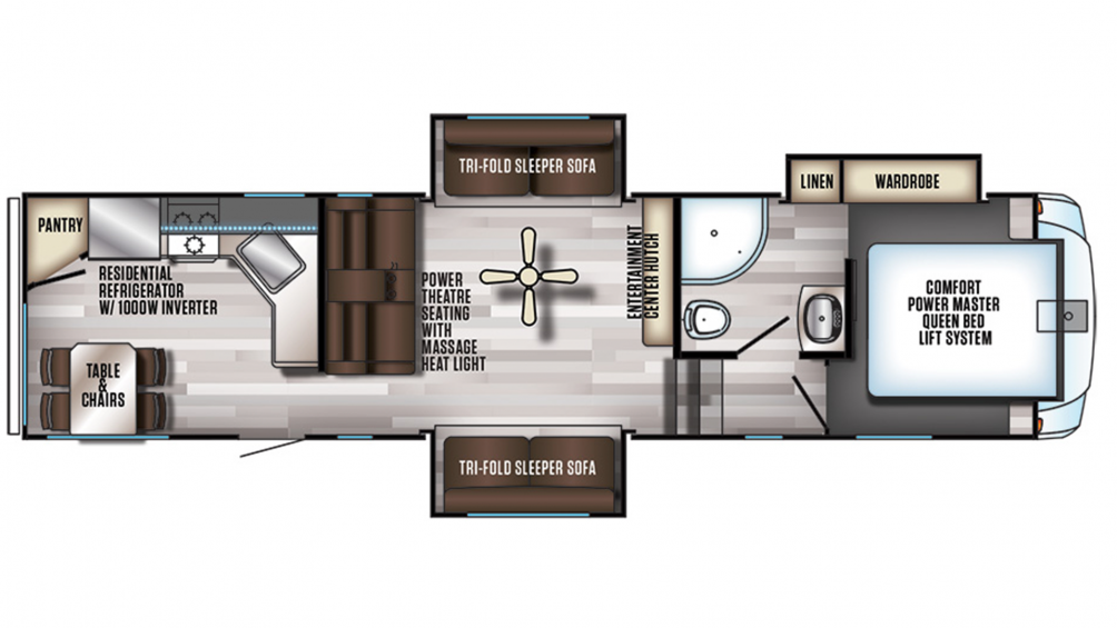 2019 Arctic Wolf 305ML6 Floor Plan Img