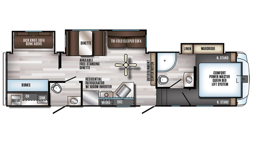 2019 Arctic Wolf 315TBH8 Floor Plan Img