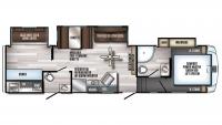 2019 Arctic Wolf 315TBH8 Floor Plan