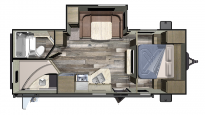 2019 Autumn Ridge Outfitter 24BHS Floor Plan Img