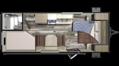 2019 Autumn Ridge Outfitter 20MB Floor Plan Img