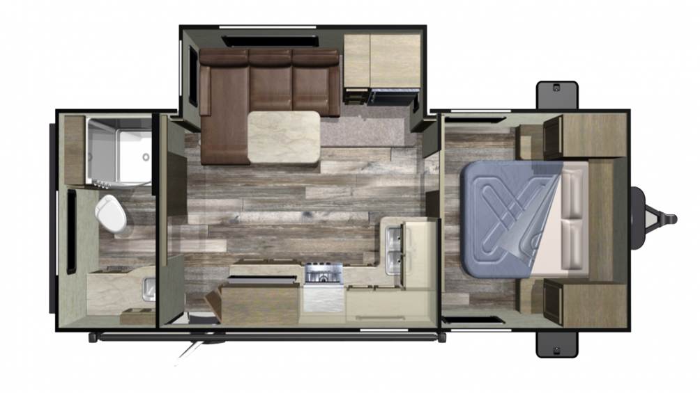 2019 Autumn Ridge Outfitter 21RBS  Floor Plan Img