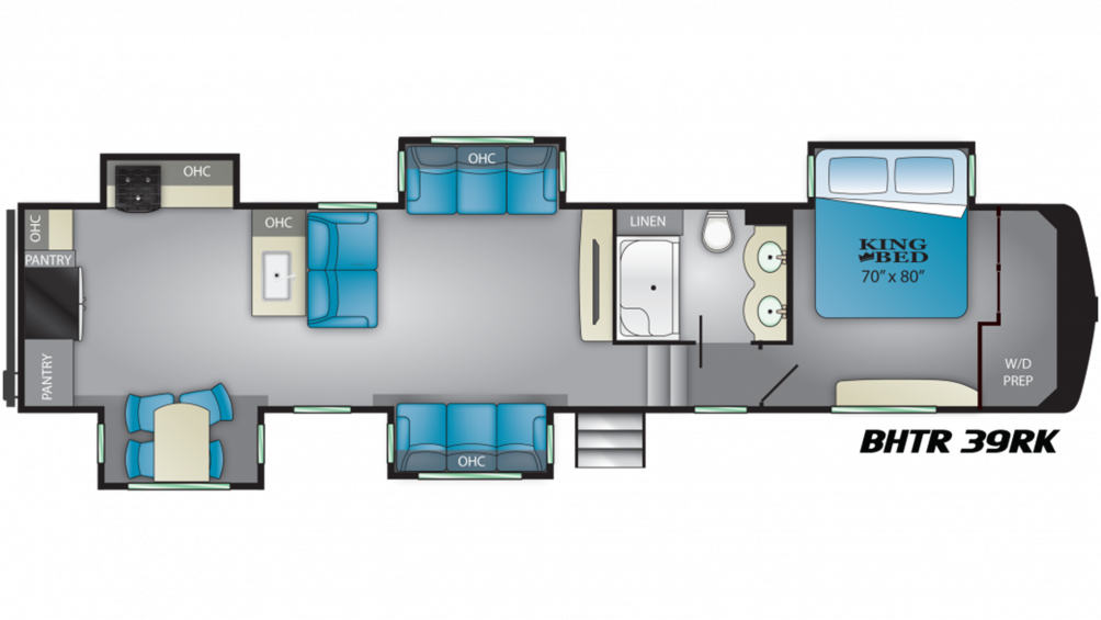 2019 Bighorn Traveler 39RK Floor Plan Img