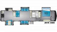 2019 Bighorn Traveler 39RK Floor Plan