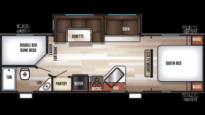 2019 Cherokee 274DBH Floor Plan Img