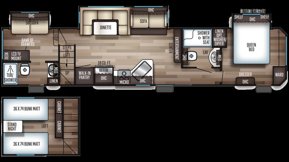 2019 Cherokee 39CA Floor Plan Img