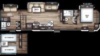 2019 Cherokee 39CA Floor Plan