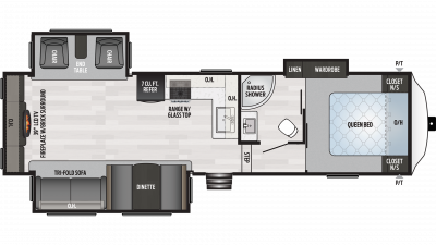 2019 Springdale 253RE Floor Plan Img