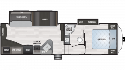 2019 Springdale 272RE Floor Plan Img