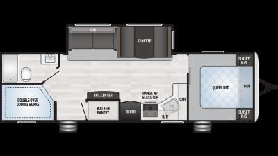 2019 Springdale 280BH Floor Plan Img
