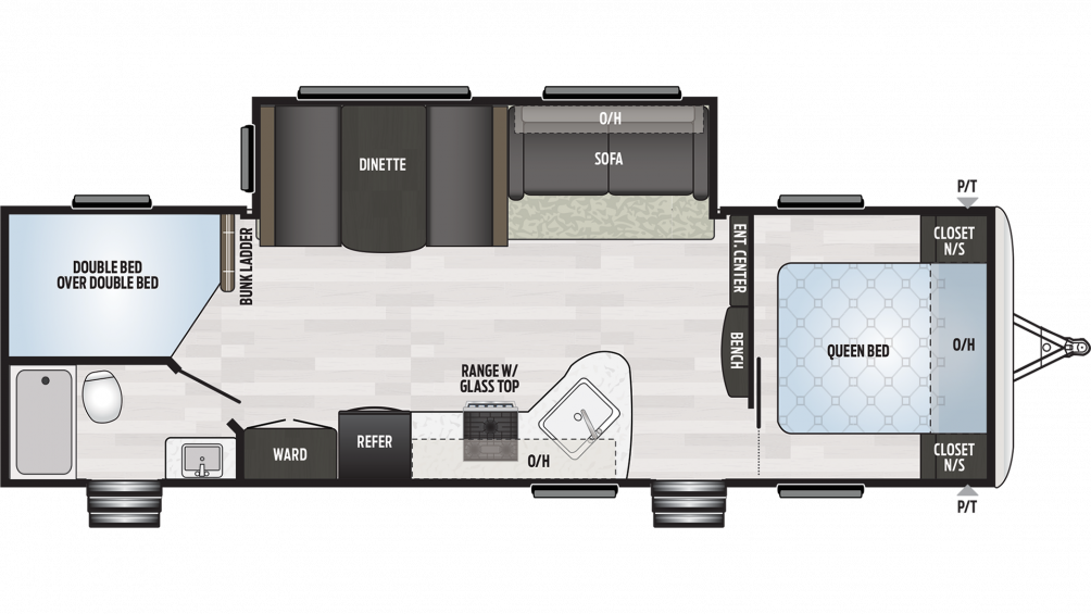2019 Springdale 282BH Floor Plan Img