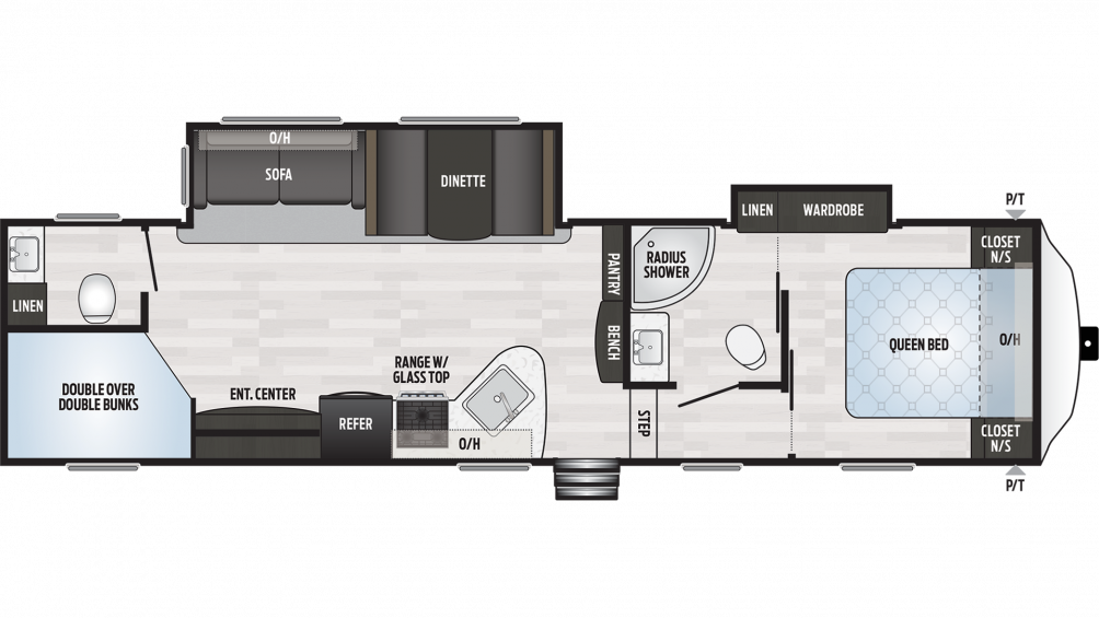 2019 Springdale 300BH Floor Plan Img