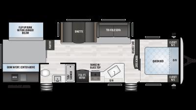 2019 Springdale 303BH Floor Plan Img