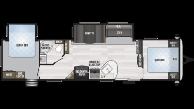 2019 Springdale 38FQ Floor Plan Img