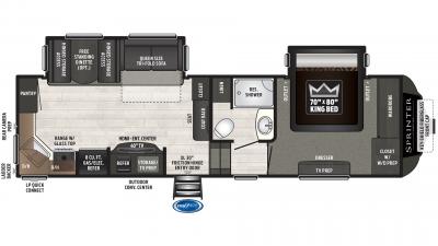 2019 Sprinter Campfire Edition 27FWML Floor Plan Img