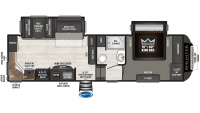 2019 Sprinter Campfire Edition 27FWML Floor Plan