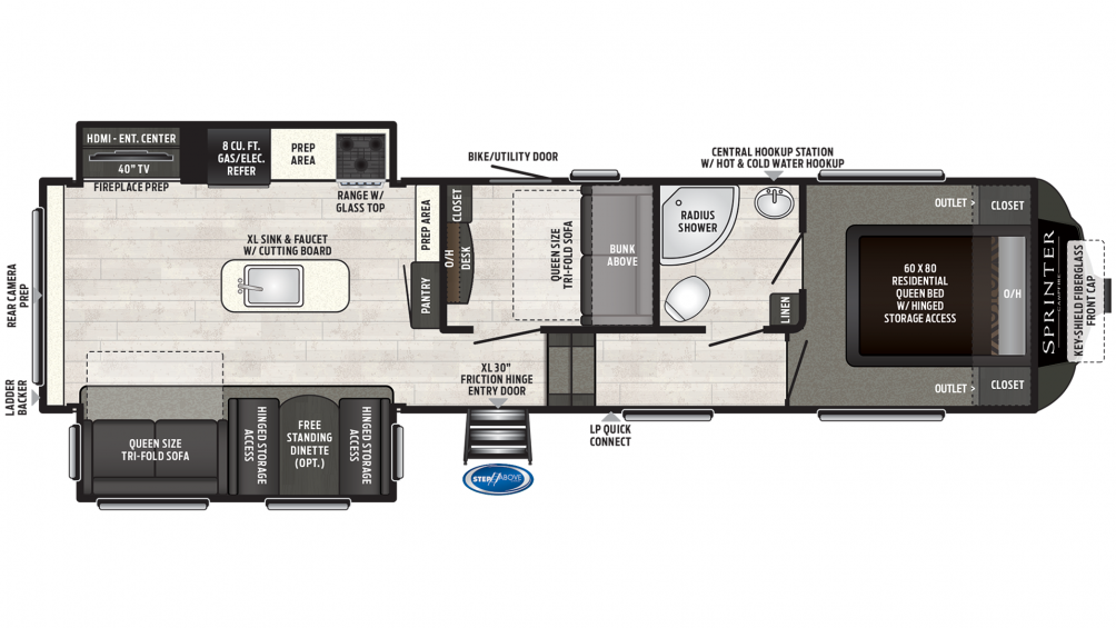 2019 Sprinter Campfire Edition 31FWMB Floor Plan Img