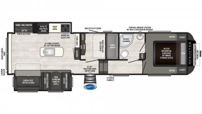 2019 Sprinter Campfire Edition 31FWMB Floor Plan Img