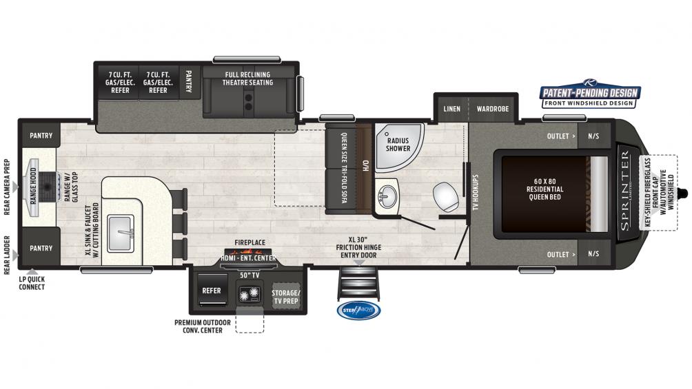 2019 Sprinter Limited 320MLS Floor Plan Img