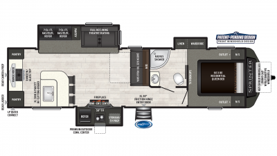 2019 Sprinter Limited 320MLS Floor Plan Img