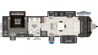 2019 Sprinter Limited 330KBS Floor Plan Img
