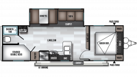 2019 Wildwood 26DBLE Floor Plan