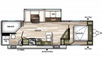 2019 Wildwood 26DBUD Floor Plan