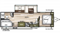 2019 Wildwood 27DBK Floor Plan