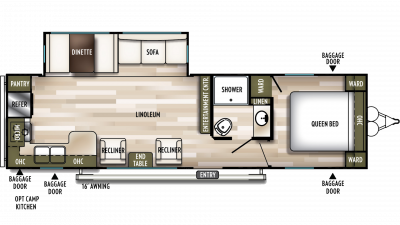 2019 Wildwood 27RKS Floor Plan Img