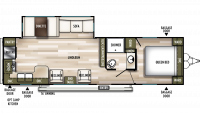 2019 Wildwood 27RKS Floor Plan